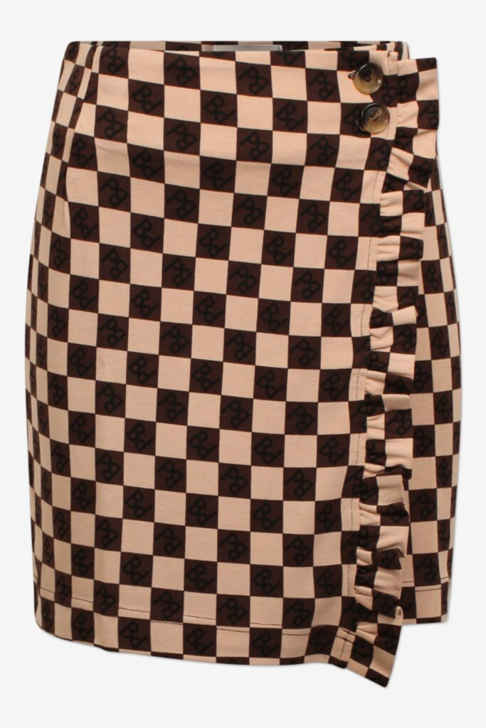 JELENA Nougat BP Wrap skirt with button closure at waist - front image